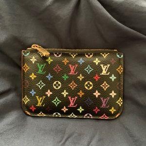 Louis Vuitton black Multicolore key pouch